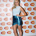 Pixie Lott in a metallic mini skirt and white top at the 2014 Radio Forth Awards in Scotland