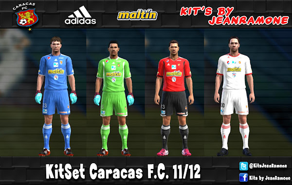 PES 2012 Caracas FC 2011/12 Kits by JeanRamone