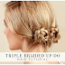 Triple Braided up-do Hair Tutorial.