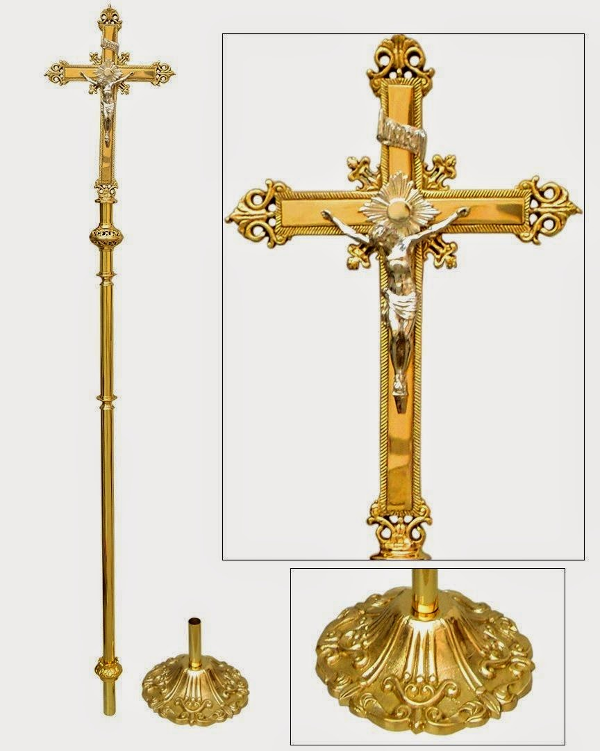 Processional Cross Modern Style: Sacred Heart Vestments: ****Traditional Style Processional