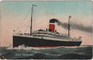 Vintage postcard of the RMS Victorian
