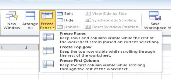 Mvp 33 Freezing Panes And Splitting Window In Excel