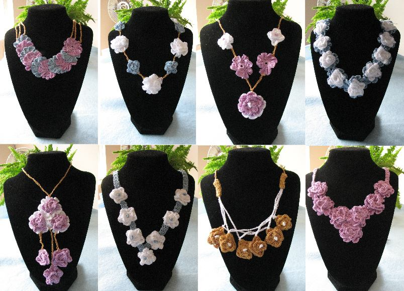 Donnas Crochet Designs Blog Of Free Patterns 8 Necklaces From My