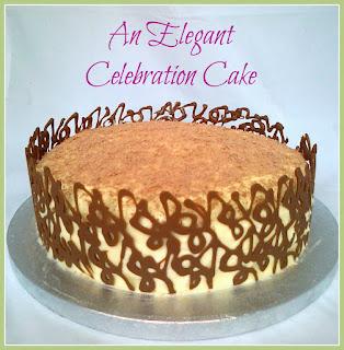 Marbled Chocolate Orange Celebration Cake