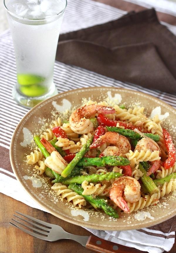 Spicy asparagus pasta recipe