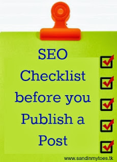 SEO checklist before publishing a blog post