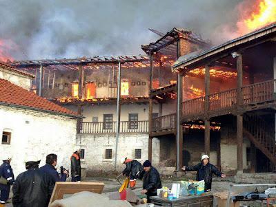 Byzantine Monastery in FYROM torched