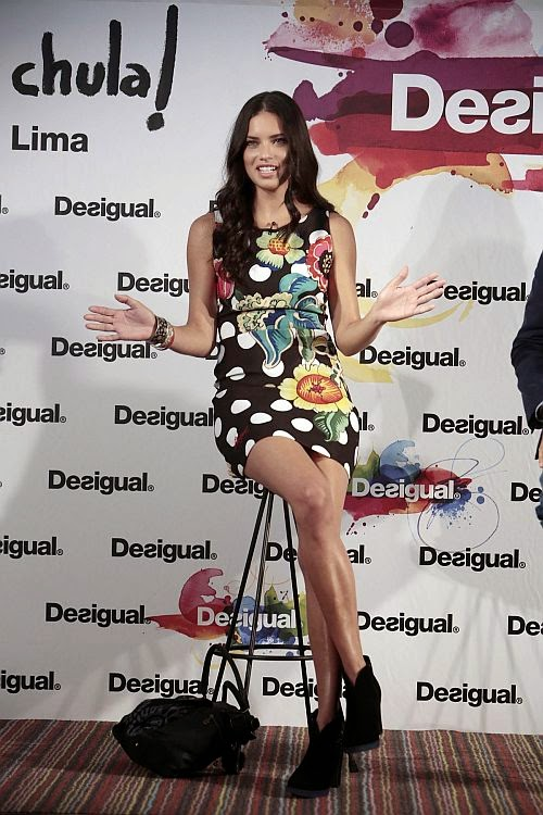 We think it's safe to say that Adriana Lima is a creature of habit as she showed off her stunning figure for a campaign in Barcelona on Monday, June 30, 2014.