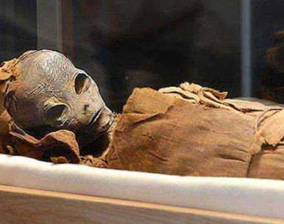 Ancient alien mummy found in the secret chambers of the Great Pyramid of Giza