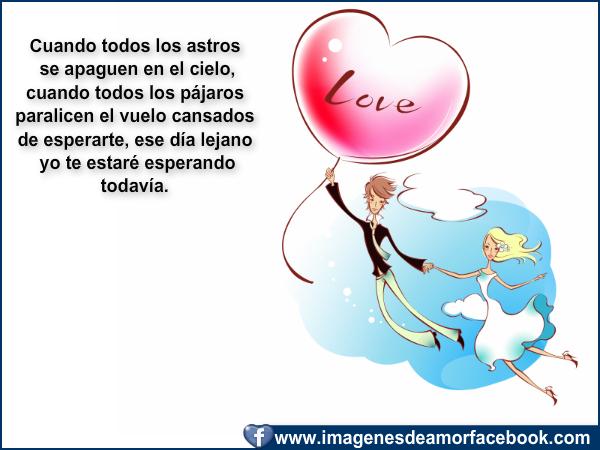 Imágenes románticas para Enamorados con frases de amor para facebook