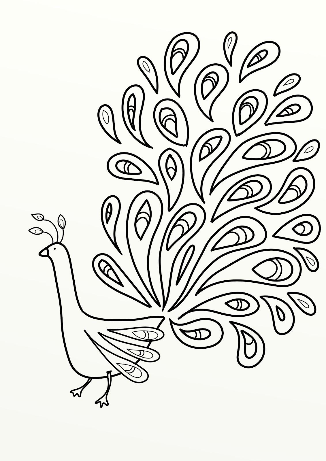 Peacock body outline - photo#21