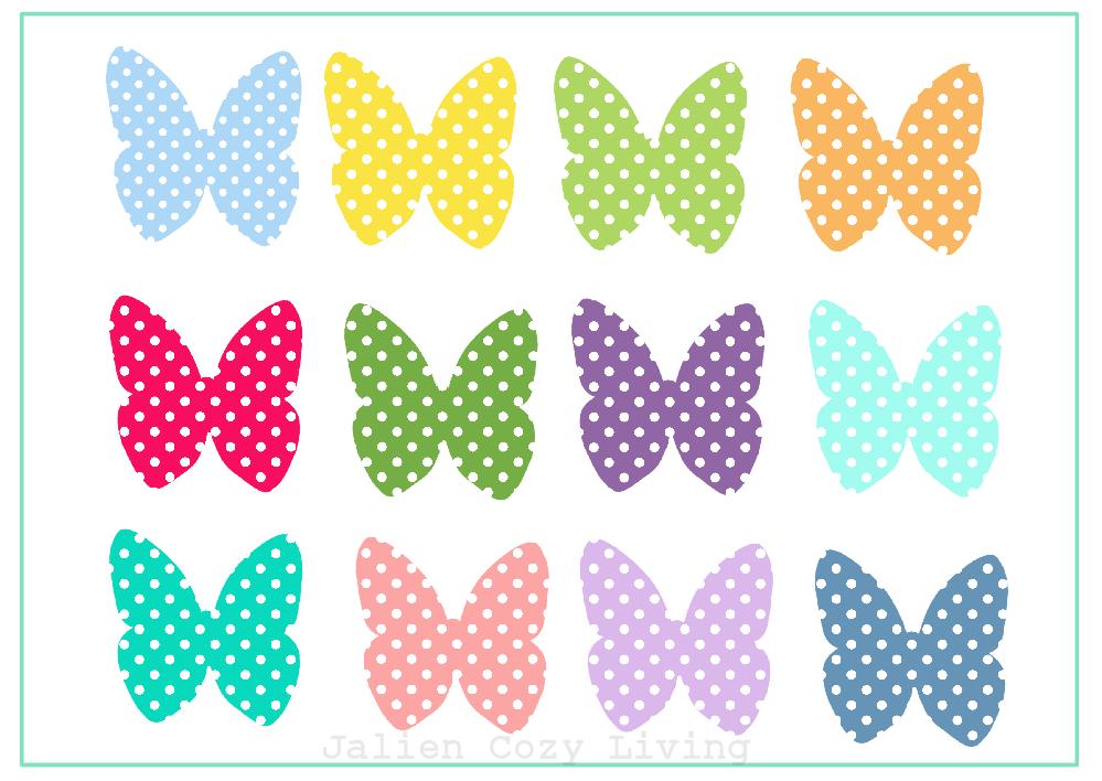 Gratis Printable Vlindertjes | Free printable butterflys | Jalien Cozy Livi