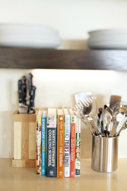 kitchen cookbook display