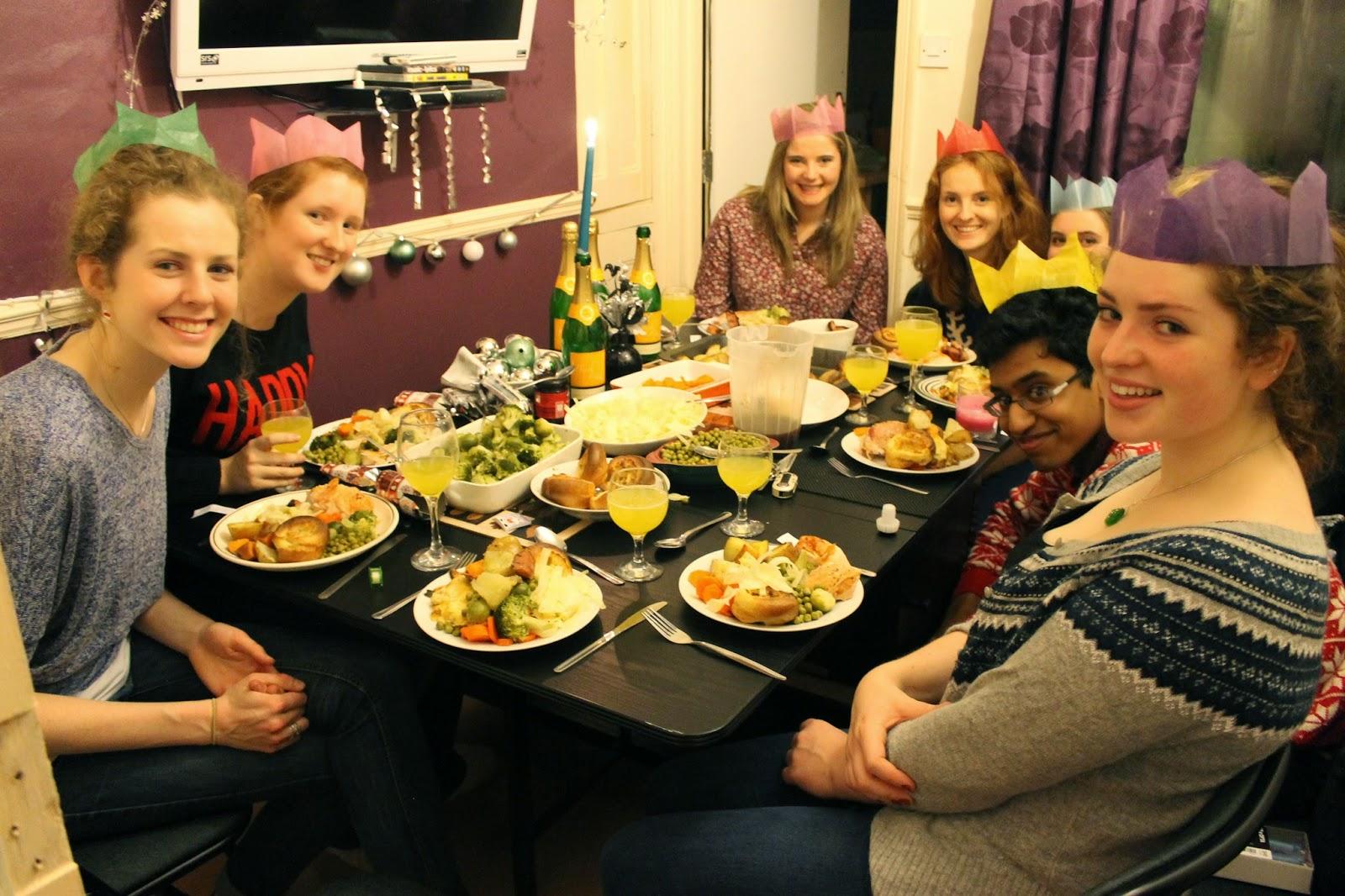 University Christmas dinner