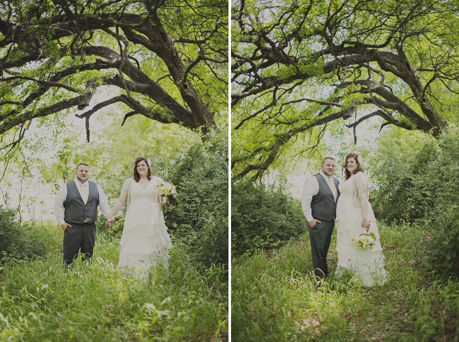 Outdoor Wedding at Trinity Park in Fort Worth