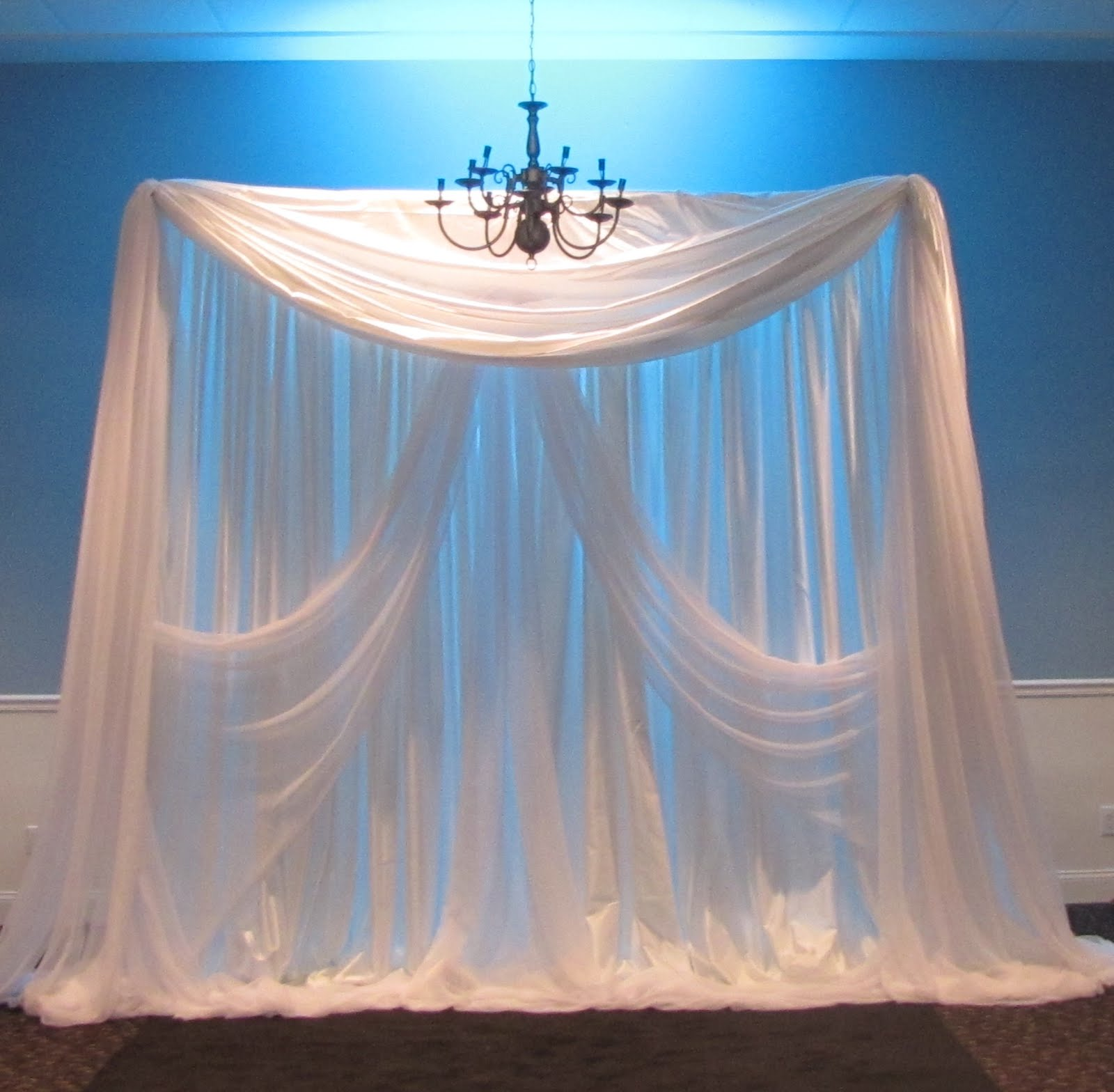 Party people event decorating company september 2012 for Backdrops wedding decoration