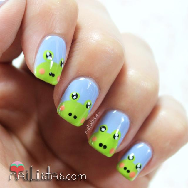 Uñas decoradas con ranas | Nail art de animales