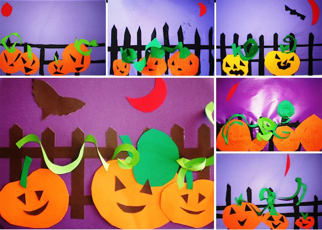 colaj Dovleci de Halloween