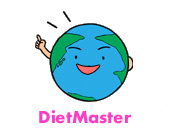 Globe expressing an idea. DietMaster, diet master.