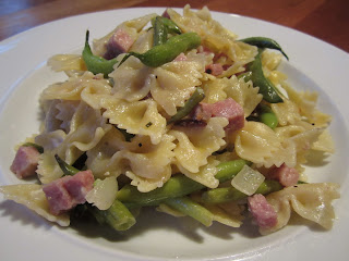 Pasta with Ham & Green Beans
