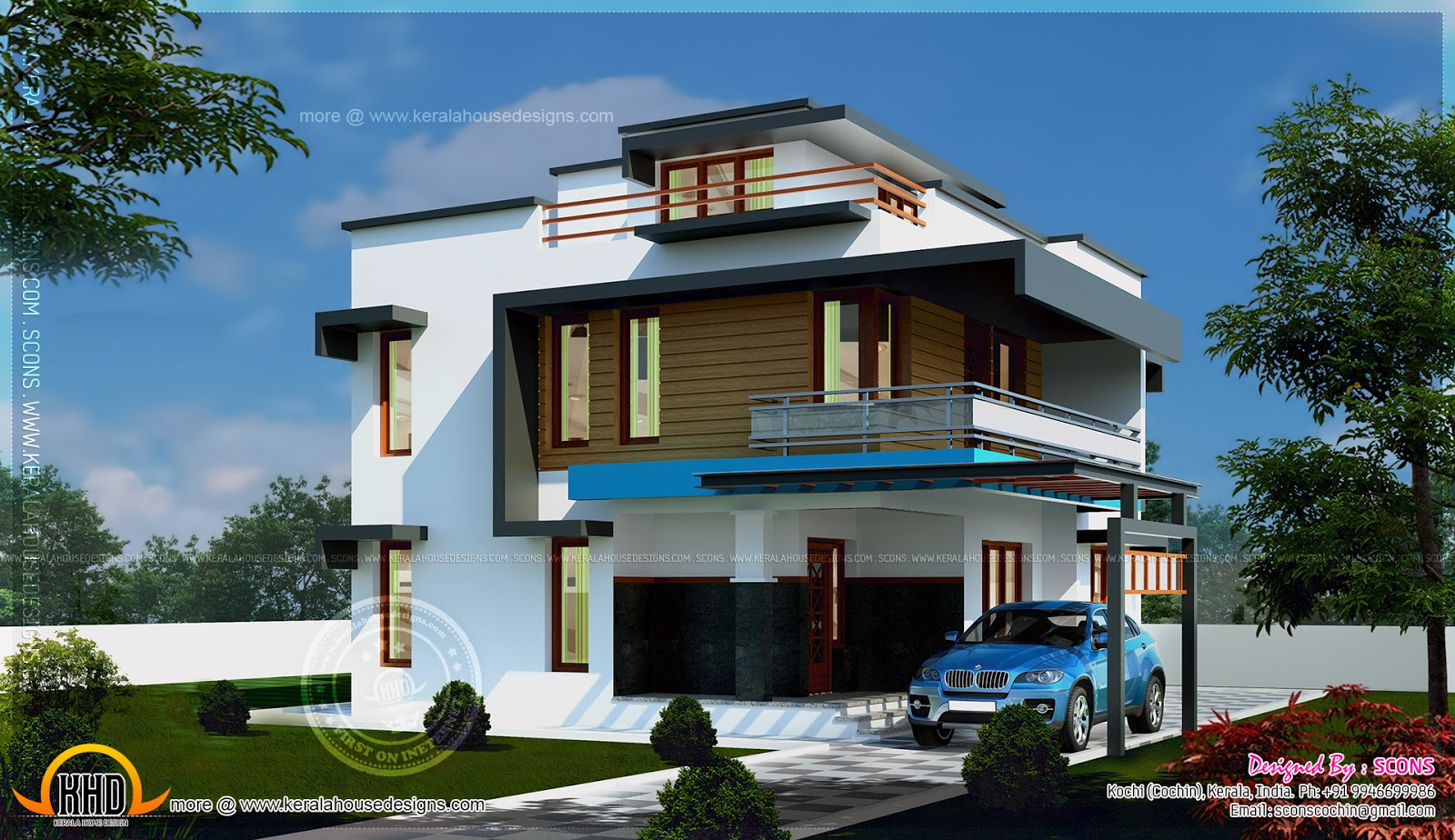 January 2015 home kerala plans for Modern square house