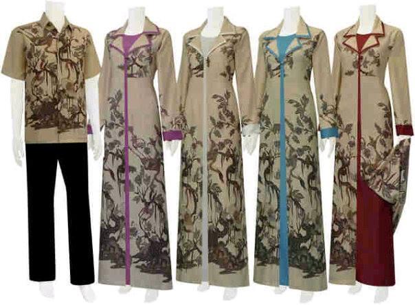 Batik Sarimbit Jubah NEW Series - NEW Motif