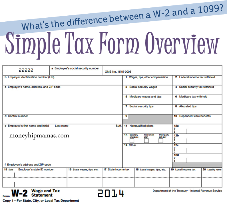 Money Hip Mamas Tax Time Forms Overview Whats The Difference