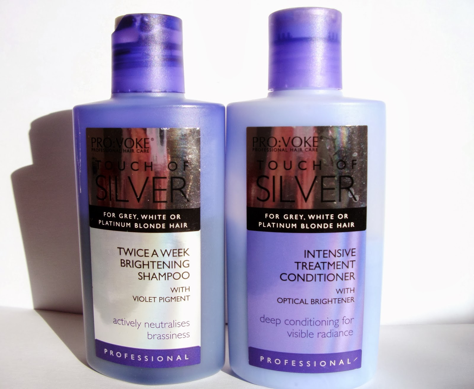 PRO:VOKE Touch of Silver Twice A Week Brightening Shampoo With Violet Pigment - 150 ml  & PRO:VOKE Touch of Silver Intense Treatment Conditioner With Optical Brightener - 150 ml