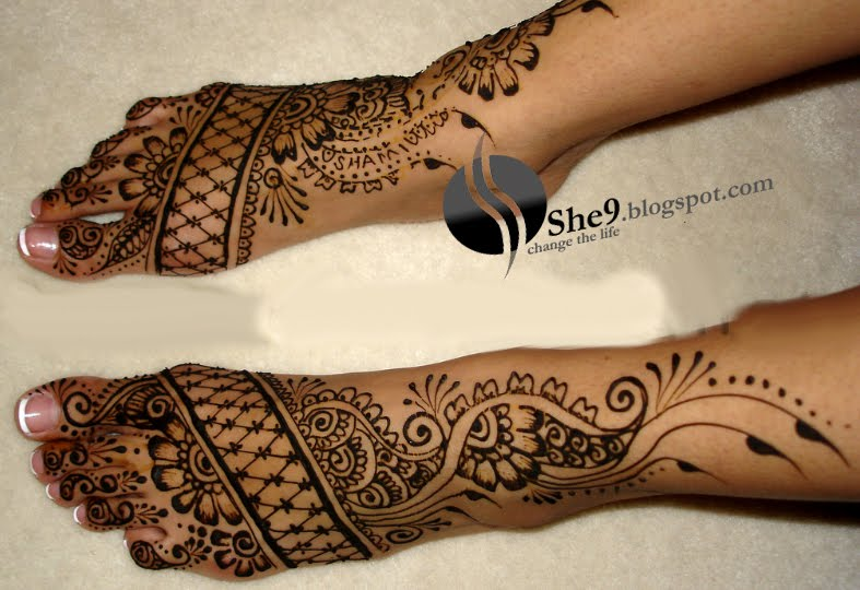 Mehndi Designs For Feet : Fashion beauty tips arabic mehndi designs for feet