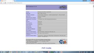 Tampilan PHP Info di Xampp