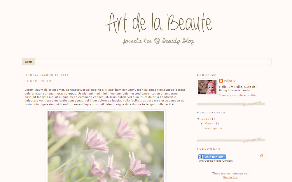 top beauty schools: blog template & layout design ~ simple vintage, Powerpoint templates