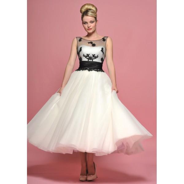 50 tals klänning vit