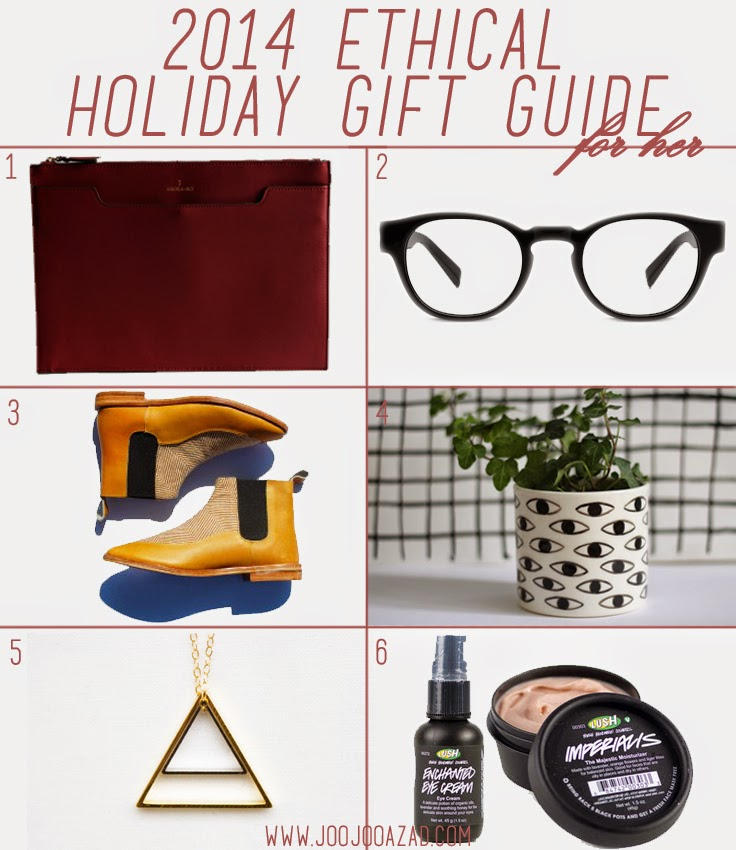 holiday gift guide, alternative gift guide, ethical fashion gift ideas