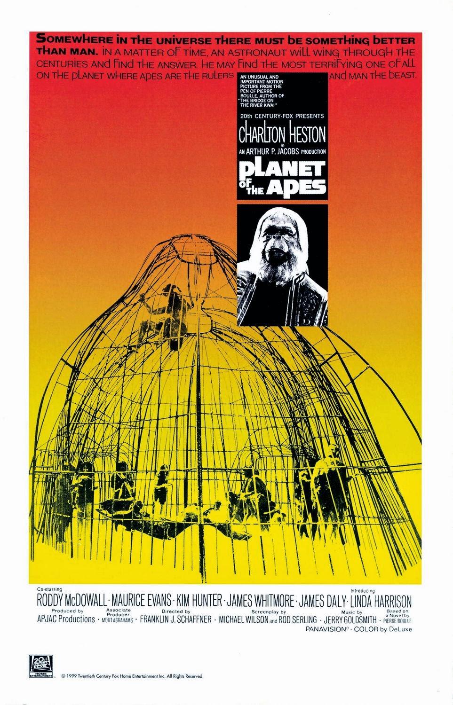 viajes en el tiempo, planeta de los simios, planet of the apes, película original, ciencia-ficción, time travel