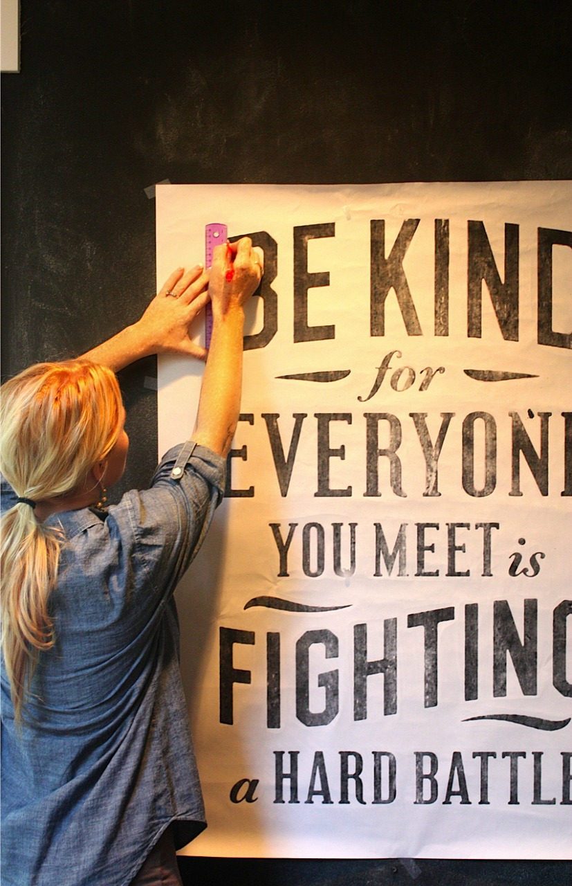My Sweet Savannah: ~chalkboard wall lettering~ { a DIY }