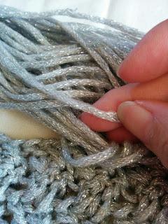 セリアの毛糸 キラキラリリー