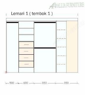 desain lemari 1 model sudut tembok
