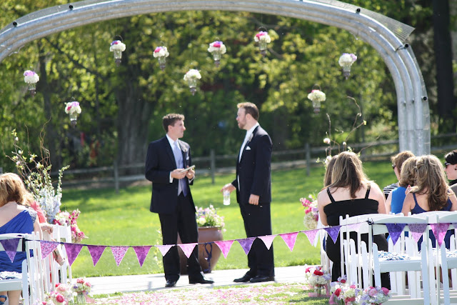 Hanging Flower Arrangements Penn State Wedding - Splendid Stems Floral Designs