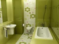 baños color verde