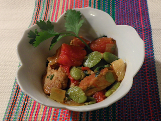 Bowl of Chicken Fava Tagine