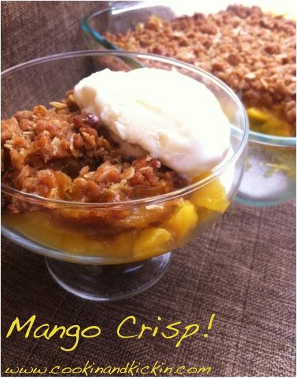 Photo of Mango Crisp with Ice Cream