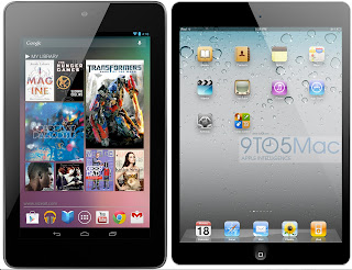 Nexus 7 and iPad Mini Photo
