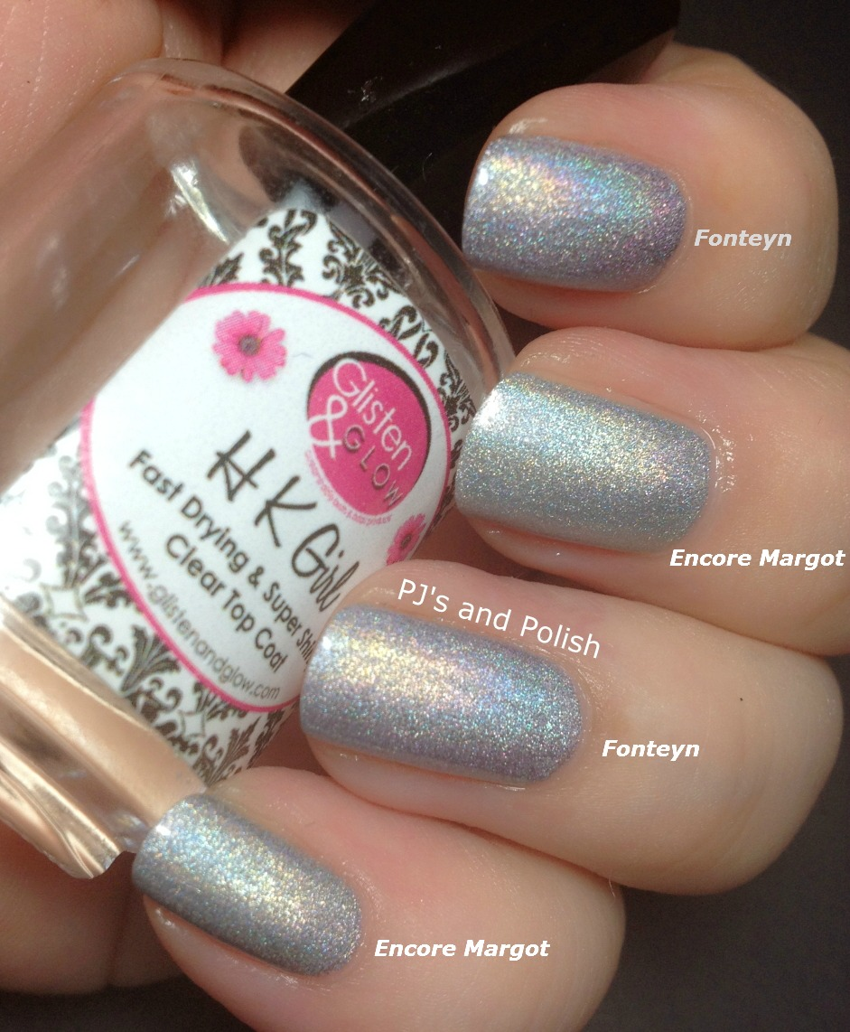 Swatch and Review A England Ballerina Collection Encore Margot Her Rose Adagio Dancing With Nureyev Fonteyn HK Girl Scattered Holo Comparison