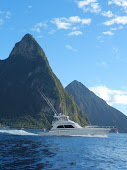 BB Kingfisher and the Pitons