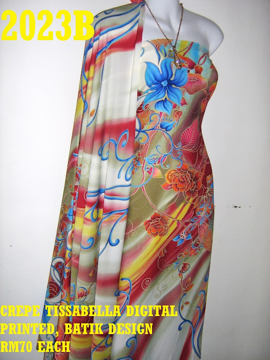 CTD 2023B: BATIK CREPE TISSABELLA DIGITAL PRINTED, EXCLUSIVE DESIGN, 4 METER