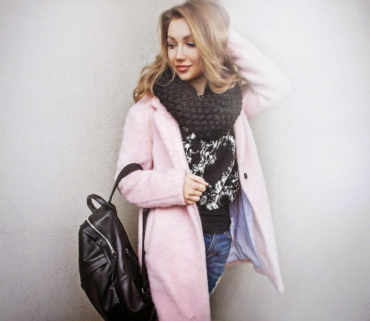 розовое осеннее пальто, розовое кашемировое пальто, розовое женское пальто