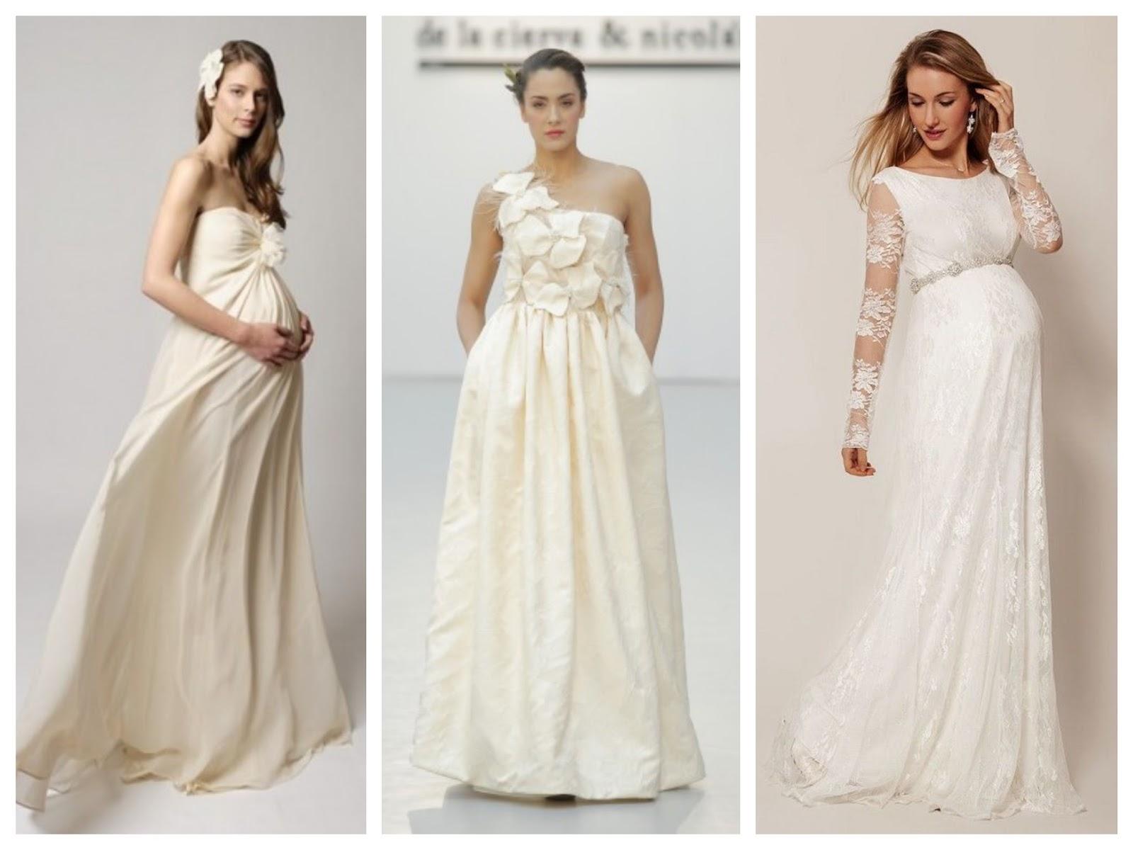 vestido de novia embarazada 4 meses