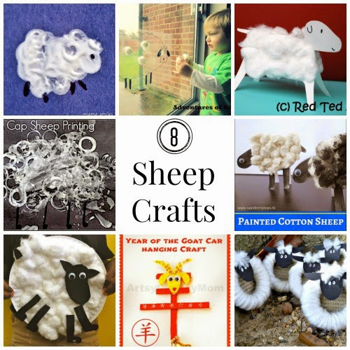 Sheep Crafts for Chinese New Year