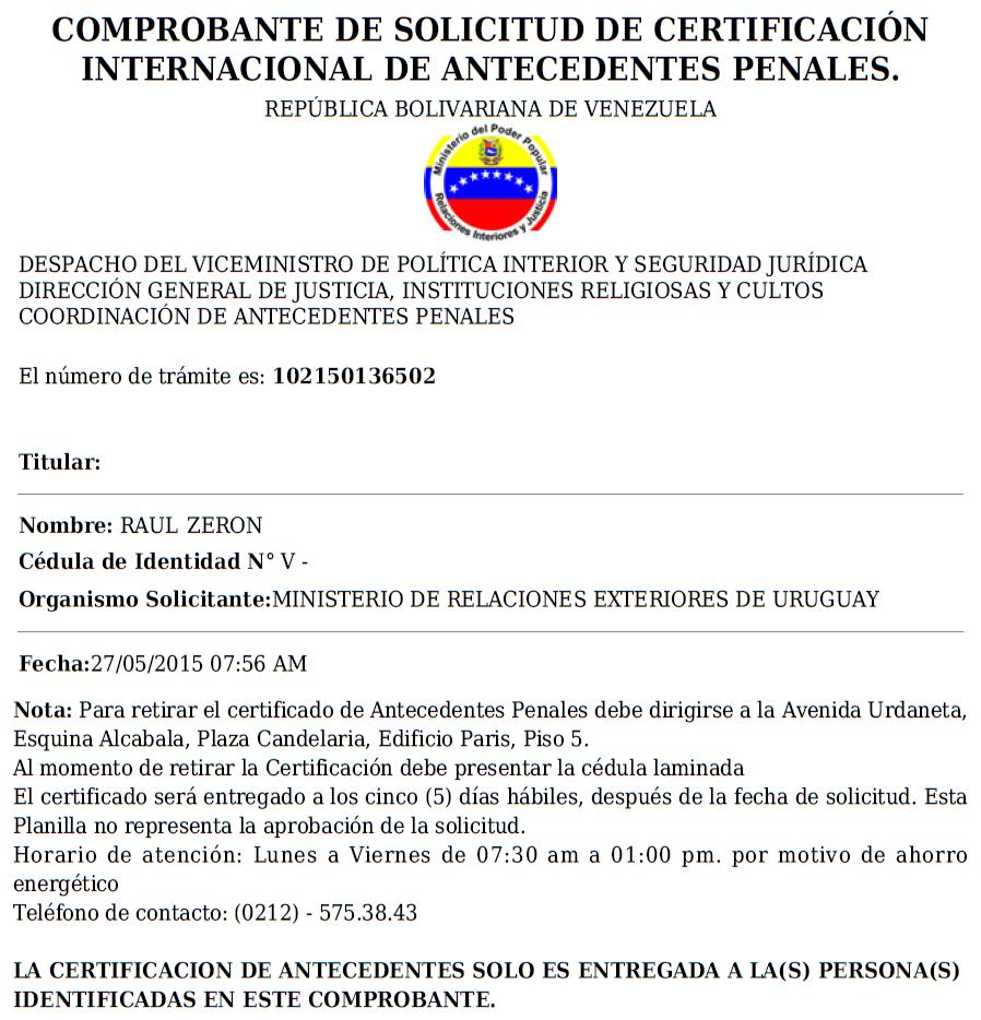 Éxodo Venezolano: Certificación de Antecedentes Penales