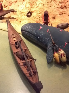 Nootka whaling canoe and gear